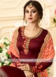 Jennifer Winget Semi Stitched Floor Length Anarkali Suit